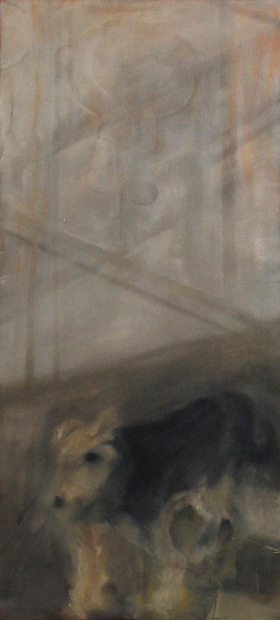 Hazer, 120x50cm, Öl auf Leinwand, 2015